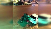 İstanbul'da 5 gencin tehlikeli yolculuğu kamerada