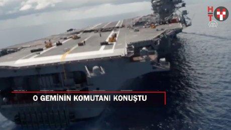 """""""Yüzen ada""""nın komutanından Türkiye mesajı"""