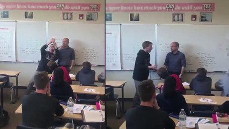 Doğum günü sürprizine maruz kalan öğretmenin intikamı!