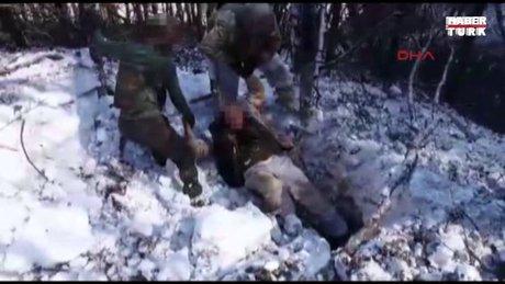 10 teröristin etkisiz hale getirildiği operasyonun görüntüleri
