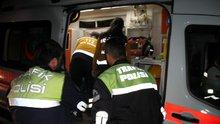 Uslanmayan alkollü sürücü, kaza yaptı