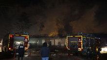Ankara'da inşaat şantiyesinde yangın