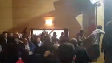 Yusuf Halaçoğlu ve Ümit Özdağ'a protesto