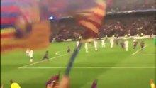 Barcelona'nın 6.golü tribünden böyle görüntülendi
