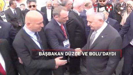Başbakan Yıldırım, Düzce ve Bolu'da konuştu