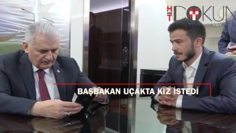 Başbakan Yıldırım KKTC dönüşü konuştu, uçakta kız istedi