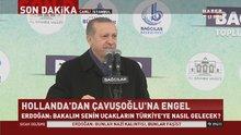 Cumhurbaşkanı Erdoğan'dan 'İniş izni iptali'ne sert yanıt