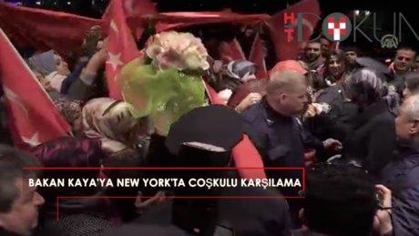 New York'ta Bakan Kaya'ya coşkulu karşılama