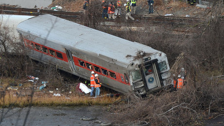 New York'ta feci tren kazası (Arşiv)
