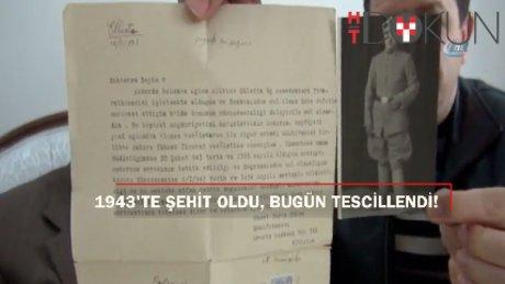 74 yıl sonra Şahadet belgesi ailesine teslim edildi