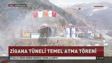Zigana Tüneli temel atma töreni