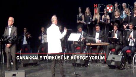 Diyarbakır'da Kürtçe Çanakkale Türküsü