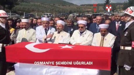 Osmaniye, şehidi Zinnur Ezim'i son yolculuğuna uğurlandı