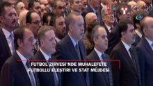 Erdoğan'dan muhalefete futbollu eleştiri ve stat müjdesi
