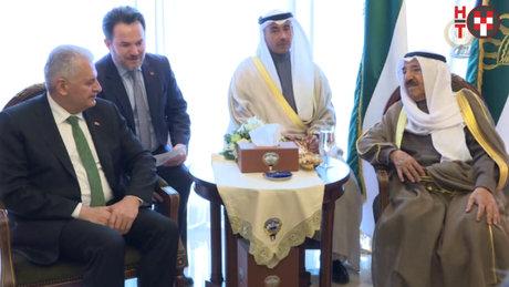 Başbakan Yıldırım, Kuveyt Emiri el Sabah ile görüştü