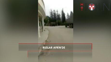 Rus askerleri YPG'nin elindeki Afrin'e ulaştı.