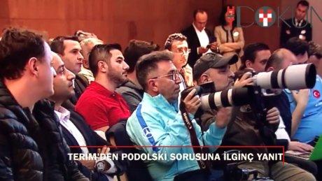Fatih Terim'den ilginç Podolski yanıtı