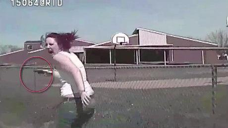Polise ateş açan kadın feci şekilde can verdi!