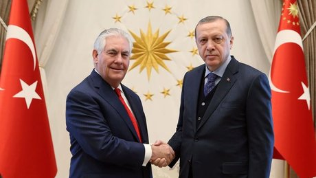 Cumhurbaşkanı Erdoğan, ABD Dışişleri Bakanı Rex Tillerson'ı kabul etti