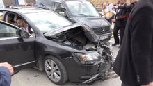 Milli Savunma Bakanı Fikri Işık'ın konvoyunda kaza