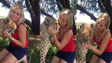 Çita ile dostluk kuran cesur kadın