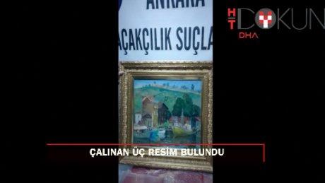 Resim Heykel Müze Müdürlüğü'nden çalınan 3 tablo bulundu
