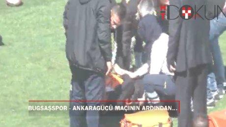Bugsaşspor - Ankaragücü maçından sonra çıkan olaylara polis müdahalesi