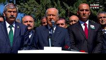 Devlet Bahçeli, Alparslan Türkeş'in 20'nci ölüm yıldönümünde konuştu