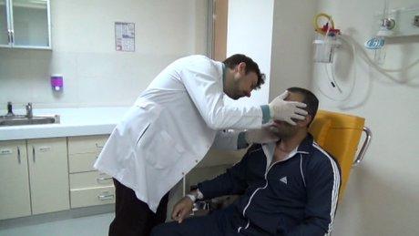 Muş'ta 8 saatlik boyun diseksiyonu ameliyatı