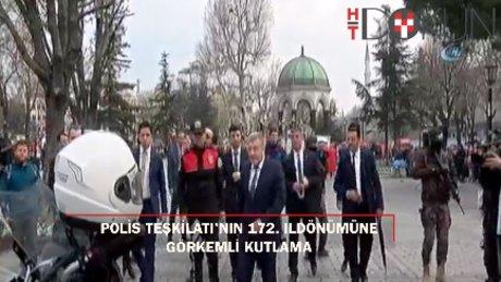 Türk Polis Teşkilatı'nın 172'inci kuruluş yıl dönümüne Sultanahmet'te kutlama