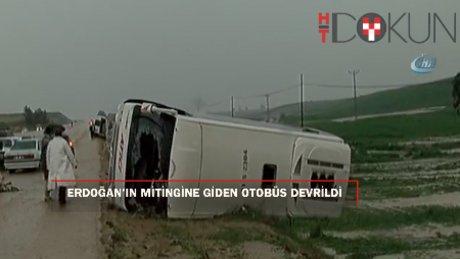Erdoğan'ın mitingine gelenleri taşıyan otobüs devrildi: 3 ölü, 20 yaralı