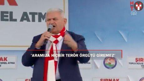 """Başbakan Yıldırım: """"Bizim aramıza hiçbir terör örgütü giremez"""""""