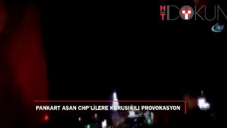 Beykoz'da hayır pankartı asan CHP'lilere kuru sıkı ateşi