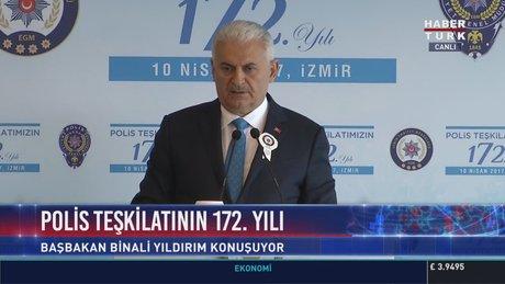Başbakan Binali Yıldırım,  Konak Polisevi'nde konuştu