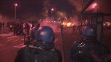 Fransa'da hapishanede eyleme geçen gardiyanlara polis müdahalesi