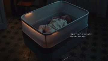 Bebeğini uyutmakta zorlananlara akıllı beşik