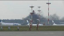 Moskova'daki havalimanında yangın