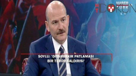 """Bakan Soylu Habertürk TV'de açıkladı: """"Diyarbakır'daki patlama terör saldırısı!"""