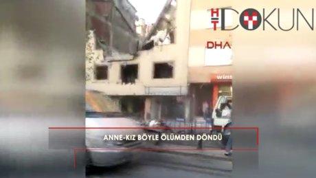Zeytinburnu'nda anne ve kız böyle ölümden döndü!