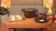 Dünyanın en küçük kahvaltı masası