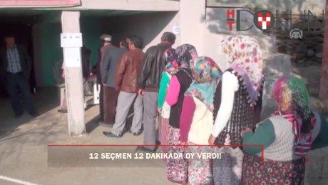 O köyde oy verme işlemi 12 dakika sürdü!