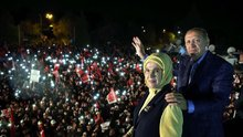 Cumhurbaşkanı Erdoğan Huber Köşkü'nde halka hitap etti