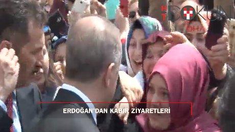 Erdoğan'dan eski başbakanların kabrine ziyaret!