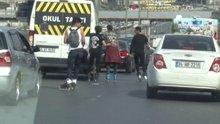 E-5'te patenci gençlerin ölümüne yolculuğu kamerada