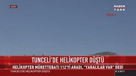 SON DAKİKA! Tunceli'de helikopter düştü