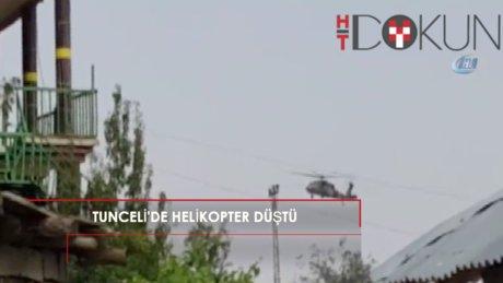 Tunceli'de hakim ve polisleri taşıyan helikopter düştü: 12 şehit