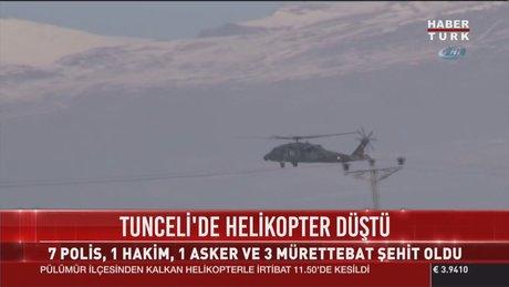 Tunceli'de helikopter düştü: 12 Şehit!