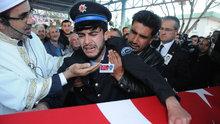 Gaziantepli şehit polis toprağa verildi