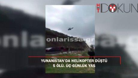 Düşen Yunan ordusuna ait helikoptere ulaşıldı: 5 ölü