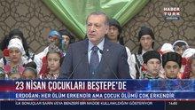 Cumhurbaşkanı Erdoğan 23 Nisan çocuklarını kabul etti